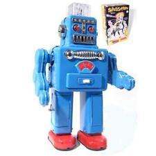 Vintage Smoking Robot Tin Toy Japanese Replica Blue Retro Collectable Clockwork