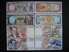 ECUADOR  5000 + 10000 + 20000 + 50000 Sucres 12.7.1999  (P127 - P130)  UNC