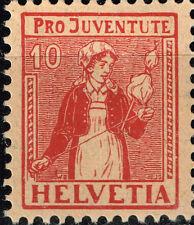 Switzerland Canton Ticino Girl Ethnography classic stamp MLHOG 1917 B9 $95