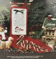 Advent 12 Days of Christmas Candy Countdown Counted Cross Stitch Wall Hanging