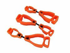 AT01-3O 3Pc Orange Glove Grabber Clip Holder Guard Work Safety Clip Glove Keeper