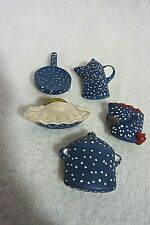 Five Button Covers, Coffee Pot, Bucket of Apples, Frying Pan, Soup Pot, Pie