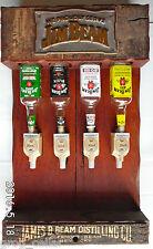 Jim Beam Vintage 4-Bottle Timber Dispenser Unit-Genuine & Extremely Rare!!!!!!