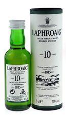 Laphroaig 10 anni 0,05l SINGLE ISLAY MALT SCOTCH WHISKY Incl. SCATOLA REGALO