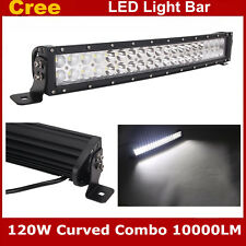 Curved CREE 22inch 120W LED Light Bar Flood&Spot Combo Beam Truck Offroad Ford
