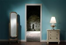 Door Mural Creapy Dungeon Wall Stickers Decal Wallpaper 293