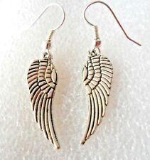 Dangle earrings - Tibetan silver style 29mm angel's wings
