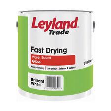 LEYLAND veloce asciugatura Gloss 2.5 L basso odore Base D'acqua Giallo Brillante Bianco non