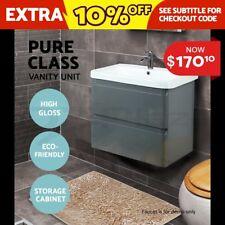 Cefito 600MM Bathroom Toilet Vanity Ceramic Basin Sink Storage Unit Cabinet Grey