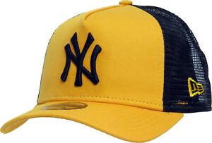 NY Yankees New Era Kids League Essential Yellow Trucker Cap (Age 4 - 10)