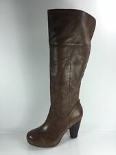Steve Madden Womens Brown Leather Knee Boots 9.5 M