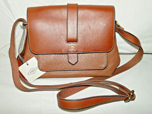 Kinley Brown Leather Crossbody Bag ZB6749200 NWT $128 Retail