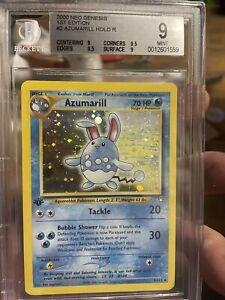 BGS 9/10 ***1st Edition***AZUMARILL** 2000 NEO GENESIS HOLOFOIL Pokemon