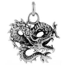 12.5 gram Sterling Silver Chinese Dragon Pendant