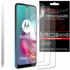 3 Pack TECHGEAR CLEAR Screen Protector Guards For Motorola Moto G30 / G10 / G50