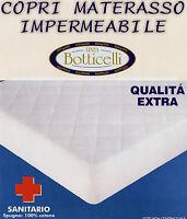 COPRIMATERASSO matrimoniale IMPERMEABILE 2 piazze sanitario botticelli cotone