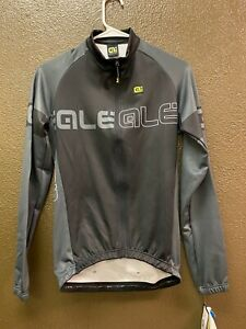 Alé Cycling Solid Basic Long Sleeve Jersey - Black/Grey - Men's Medium