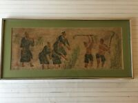 "Vintage Taiwan The Art of Stone Rubbing, 24"" x 9 1/2"" (Image), 28 1/2"" x 13"""