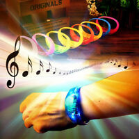 Voice Activated Sound Control LED Glitter Bracelet Kids Interactive Xmas Gift