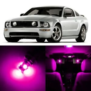 9 x Ultra PINK Interior LED Lights Package For 2005- 2009 Ford Mustang +TOOL