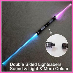 2Pcs Star Wars Laser SWORD Double Side Lightsaber Foldable RGB LED W/Sound US