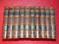 PIERRE LOTI 10 Volumes 1/2 reliure cuir époque 1920 Calmann-Lévy