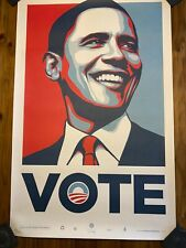 Obama VOTE by Shepard Fairey Obey Large Poster Print 2008 numbered