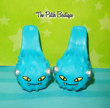 MONSTER HIGH FRANKIE STEIN DEAD TIRED DOLL REPLACEMENT BLUE SLIPPERS SHOES ONLY