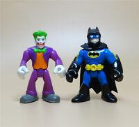 """LOT OF 2 IMAGINEXT DC SUPER FRIENDS the joker BATMAN ACTION FIGURE 3"""" #D2"""