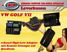 2-KANAL HIGH-LOW ADAPTER MIT REMOTE FÜR VW GOLF 7 VERSTÄRKER ADAPTER PLUG & PLAY