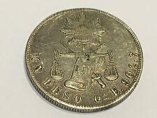 1870 Oa E Mexico $1 PESO  Coin Silver .903 SECOND REPUBLICA MEXICANA XF KM#408,6