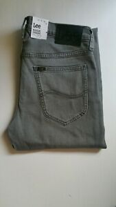 Lee Herren Jeans Daren Zip Fly Regular Fit Blau Mid Wash Sidney W28-W44 Cotton