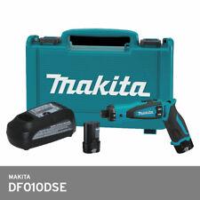 """Makita DF010DSE Driver Drill 7.2V 1/4"""" Hex 5.6Nm Li-Ion 2x1.5Ah Hard Case UPS"""
