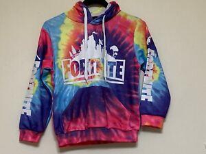 Fortnite kids winter rainbow hoodie sizes 2-16 brand new