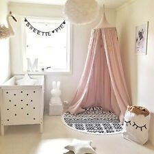 LN_ Children Baby Bed Canopy Round Dome Cotton Mosquito Net Nursery Room Decor