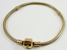 14K Gold Charm Bracelet 19cm Simulacrum PANDORA
