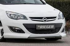 Rieger Frontspoilerlippe mit Carbon-Spoilerschwert für Opel Astra J ab Facelift