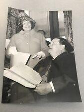 Marie bell and darius milhaud: original press photo 13x18cm