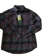 Orvis  Grray Black Maroon Big Bear Outdoor Flannel S