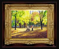 "Handmade ORIGINAL Painting Arseni ~ LIFE GOES ON 6,8"" X 5,4"" Impressionism Oil"