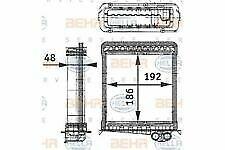 COPPER BRASS HEATER CORE 7 7//8 X 6 X 2 AH462