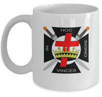 Knights Templar coffee mug - In hoc signo vinces - Masonic York rite symbol gift