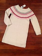 Nwt Baby Gap Sweater Dress Size 4 Winter White Holiday Christmas