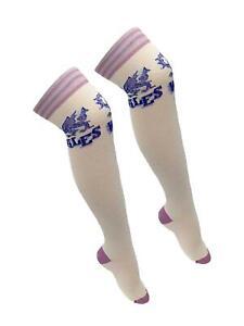 Adult Referee Wales Printed White and Purple OTK Socks Accessory UK