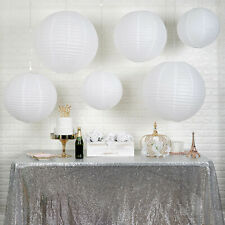 6 WHITE Assorted Large Hanging Paper Lanterns Party Wedding Events Decorations