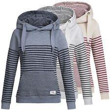 Damen Kapuzenpullover Hoodie Streifen Sweatshirt Pulli Sweater Sublevel  LSL-287 1a64194ea2