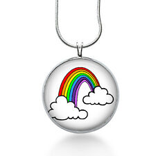 Rainbow Pendant Necklace, Summer Jewelry for Her, Womens jewelry