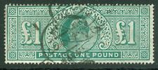SG 266 £1 blue-green. Good used with .London 'hooded' CDS cancels CAT £825