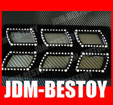 LUXURY BLING Swarovski Crystal Fender side Vent Hood Grill Badge Decal FOR BMW