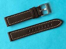 Festina Uhrband Ersatzband  F16169 Leder dunkelbraun weiße Naht  Strap F16169/6